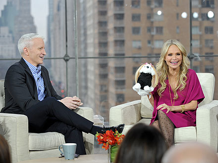 Anderson Cooper Gives Kristin Chenoweth Dog Hair Extensions