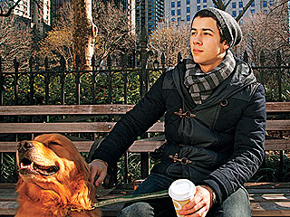 Nick Jonas and His Dog T