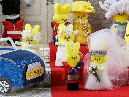 Will & Kate's Royal Wedding ... Made of Peeps!| Cute Pets, Royal Wedding, Kate Middleton, Pippa Middleton, Prince William