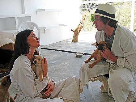 Ben Flajnik and Courtney Robertson with Puppies in Mexico