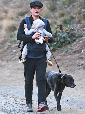 Orlando Bloom Goes Hiking with Flynn and Dog Sidi
