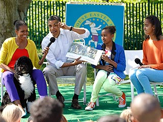 Bo Obama Goes to the Easter Egg Roll | Bo Obama, Barack Obama, Michelle Obama