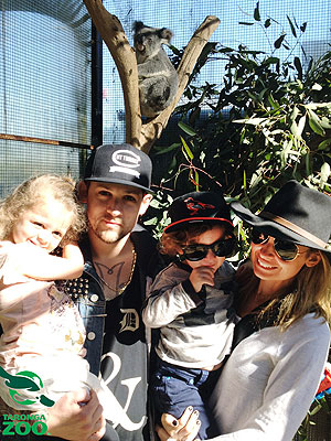 Nicole Richie, Joel Madden Meet Animals at Taronga Zoo