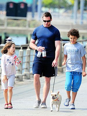 Hugh Jackman, Orlando Bloom with Dogs on Father&#39;s Day: Photos