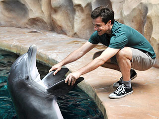 Shake on It! Jason Bateman Gets to Know a Dolphin | Jason Bateman