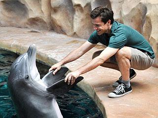 Shake on It! Jason Bateman Gets to Know a Dolphin | Jason Bateman
