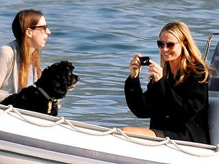 Stacy Keibler Enjoys Lake Como – with George Clooney's Dog! | Stacy Keibler