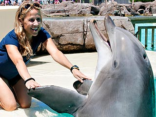 Sheryl Crow Meets a Dolphin with Her Boys