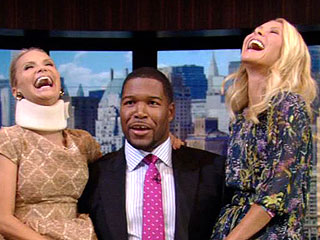 Kristin Chenoweth Opens Up About Accident in First TV Interview Since Injury | Kelly Ripa, Kristin Chenoweth, Michael Strahan