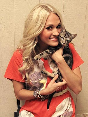 Carrie Underwood Cuddles Kittens at Her Hometown Shelter| Animal Charities, Cats, Stars and Pets, Carrie Underwood