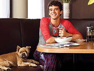 Michael Urie's (and His Dog's) Favorite Room? The Breakfast Nook! | Michael Urie