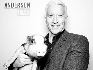 Anderson Cooper Meets Glitzy the Pig