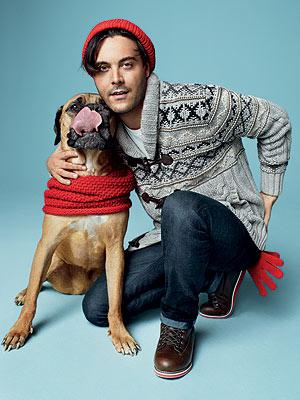 Jack Huston and Dog Orso for Gap