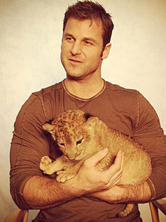 Doubly Cute! Dave Salmoni Plays with Lion Cub