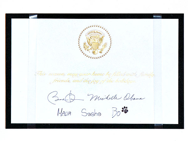 Bo Obama Adorns White House Christmas Card| Bo Obama, Stars and Pets, Dogs