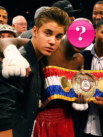 Justin Bieber jumped in the ring with this heavyweight champ: