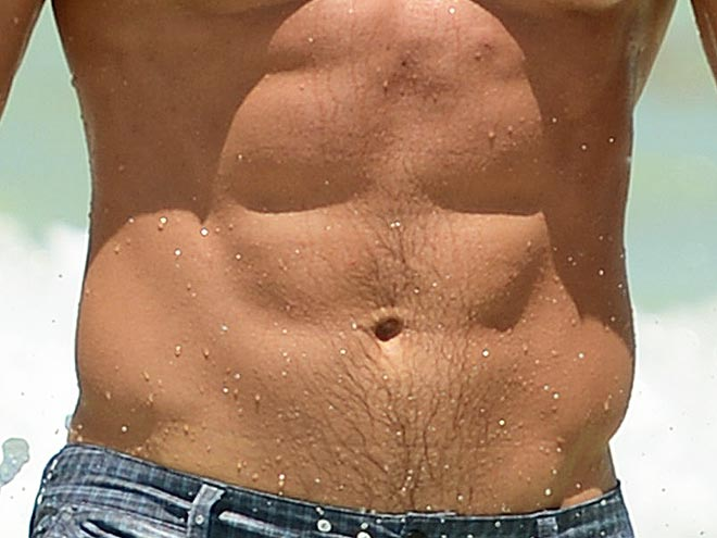 He's sure ripped – but does this sculpted torso belong to an athlete or an actor?