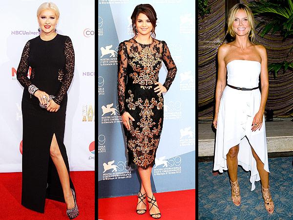 Christina Aguilera, Selena Gomez, Heidi Klum
