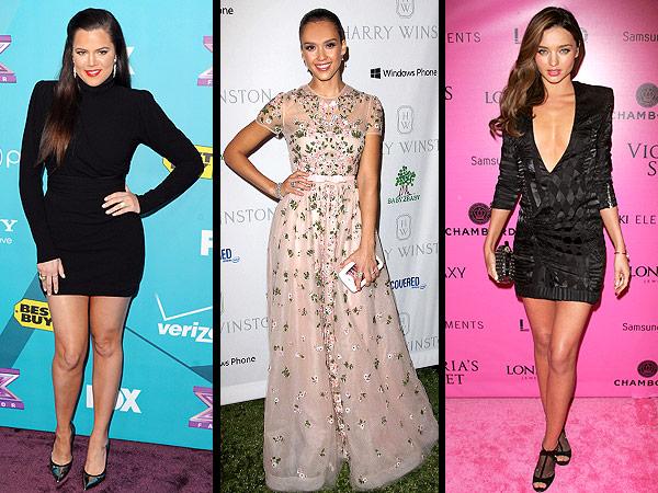 Khloe Kardashian, Jessica Alba, Miranda Kerr