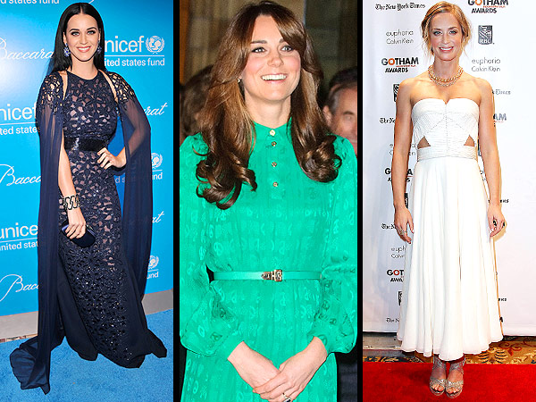 Katy Perry, Kate Middleton, Emily Blunt