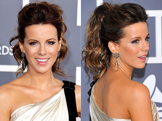 KATE: DRAMATIC PERFORMANCE BY A PONYTAIL photo | Kate Beckinsale