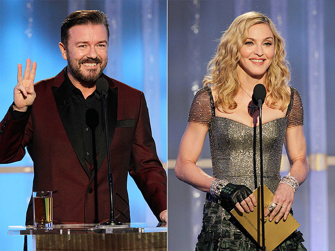  photo | Madonna, Ricky Gervais