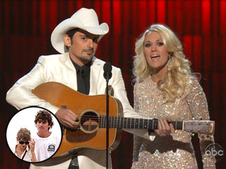 Zing! Carrie Underwood & Brad Paisley Poke Fun at Taylor Swift's Breakup | Brad Paisley, Carrie Underwood