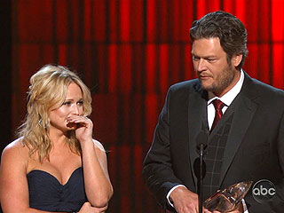 Miranda Weeps Alongside Blake After Emotional CMA Win | Blake Shelton, Miranda Lambert