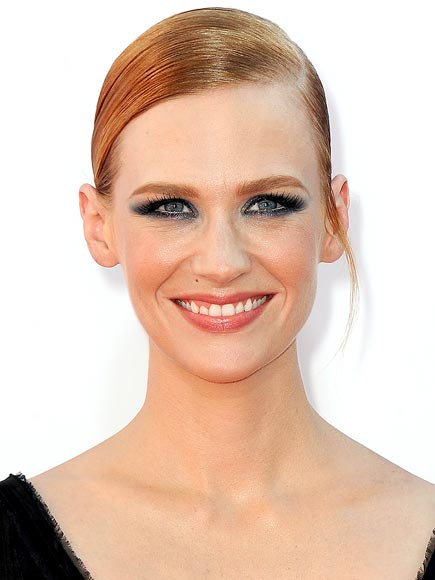 JANUARY JONES&#39;S SLEEK BUN & INDIGO EYES photo | January Jones