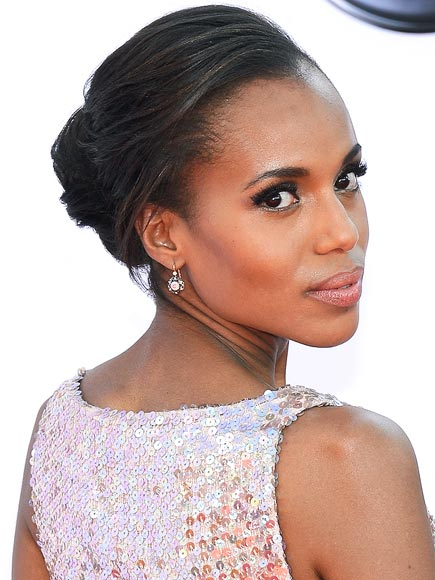 KERRY WASHINGTON'S SIMPLE CHIGNON photo | Kerry Washington