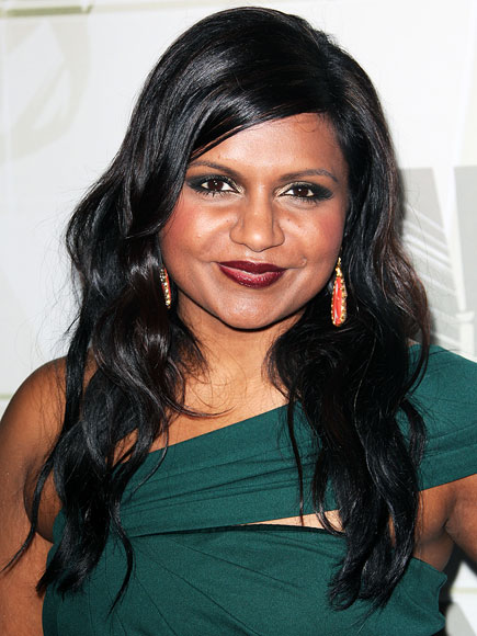 MINDY KALING'S GLOSSY HAIR photo | Mindy Kaling