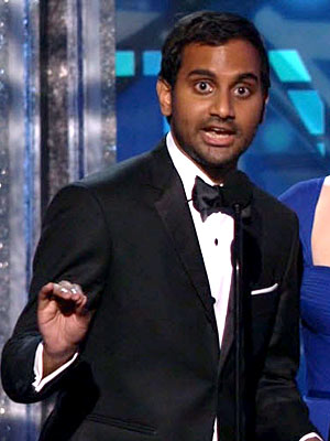 Emmys 2012 Highlights: Jon Stewart, Jimmy Kimmel & More Get Laughs| Emmy Awards, Primetime Emmy Awards 2012, Amy Poehler, Aziz Ansari, Jimmy Fallon, Jimmy Kimmel, Jon Stewart, Seth MacFarlane