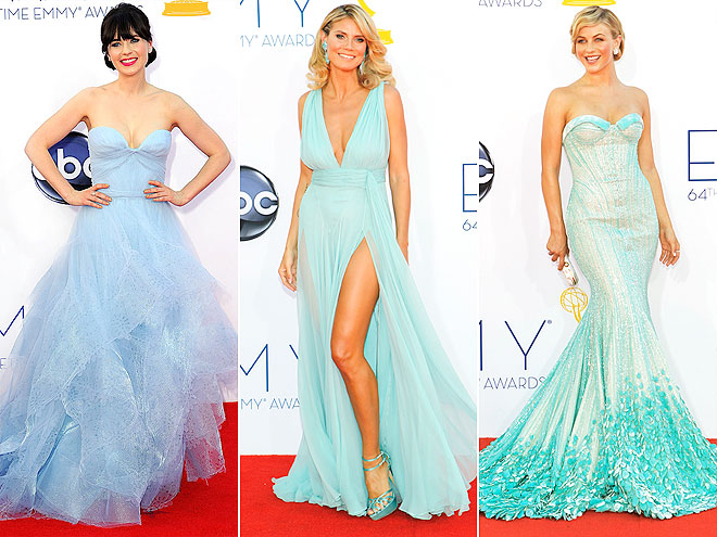 PASTEL BLUE & GREEN DRESSES photo | Heidi Klum, Julianne Hough, Zooey Deschanel