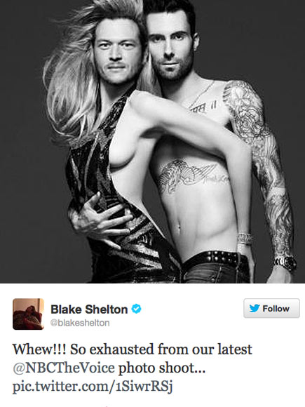 BUDDING BROMANCE photo | Adam Levine, Blake Shelton