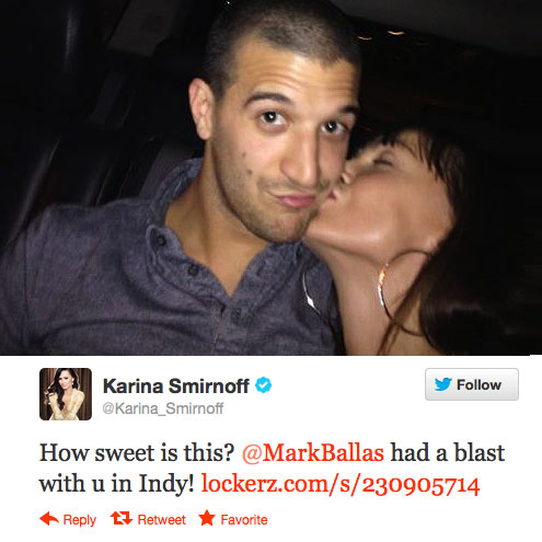 KISS OF APPROVAL photo | Karina Smirnoff, Mark Ballas