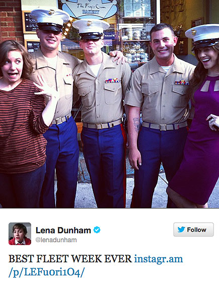 NAVAL GAZING photo | Allison Williams, Lena Dunham