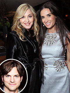 Ashton Chats up Rumer, Not Demi, at Pre-Globes Bash | Ashton Kutcher, Demi Moore, Madonna