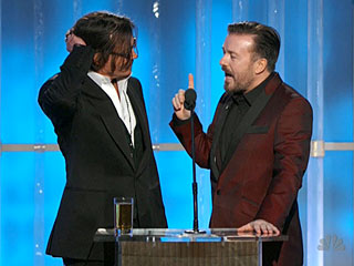 Ricky's Golden Globes Gags: Hilarious or Just Cheap Shots? | Johnny Depp, Ricky Gervais