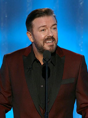 PEOPLE Critic: Ricky Packs Little Punch at Globes | Ricky Gervais