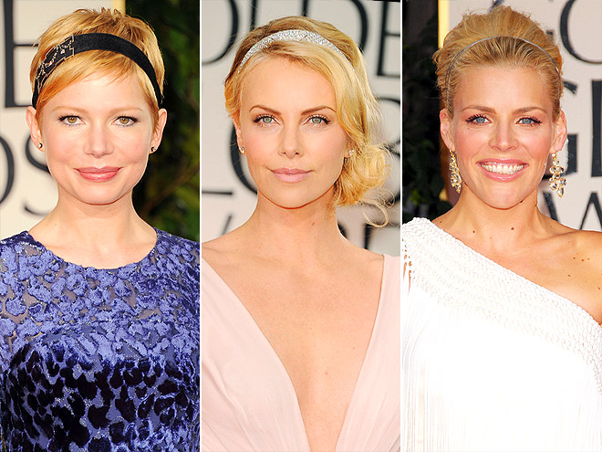 GLITTERING HEADBANDS photo | Busy Philipps, Charlize Theron, Michelle Williams