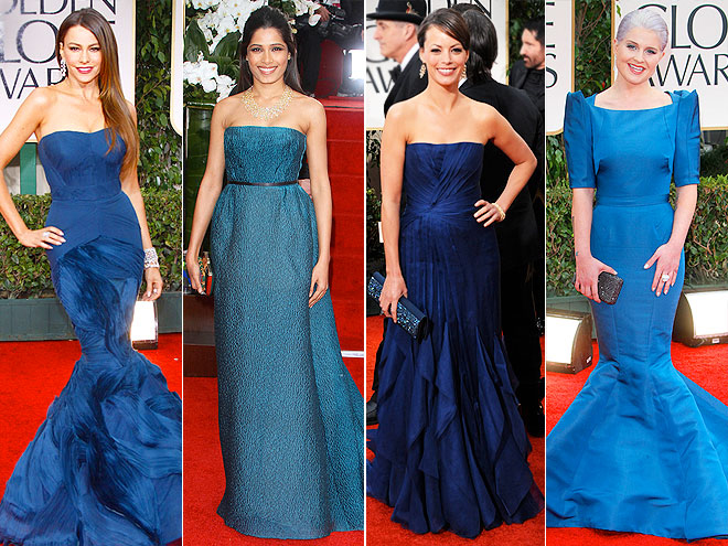 PEACOCK BLUE photo | Berenice Bejo, Freida Pinto, Kelly Osbourne, Sofia Vergara