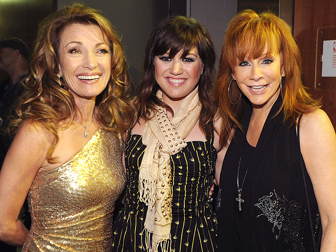 TALENTED TRIO photo | Jane Seymour, Kelly Clarkson, Reba McEntire