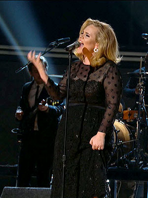 Adele Powers Through Live Grammy Performance of 'Rolling in the Deep' | Adele
