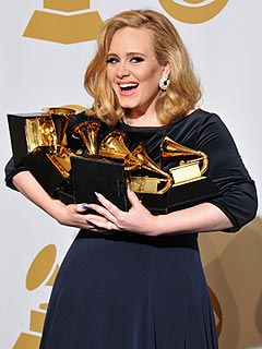 Tearful Adele Sweeps Grammys with Six Wins | Adele