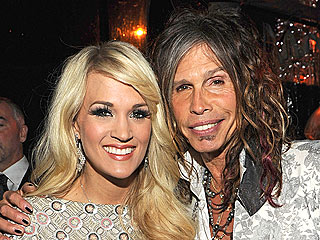 Grammys 2012 Stars Party On | Carrie Underwood, Pitbull