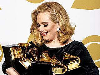 Grammy 2012 Winners' Sweet & Silly Reactions | Adele