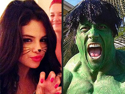 Boo! Stars Play Halloween Dress-Up