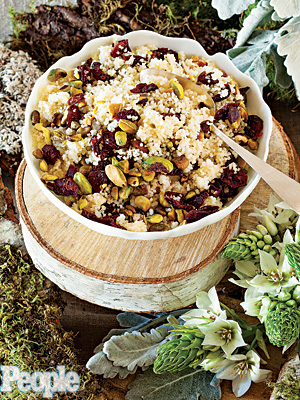 Yifat Oren's Couscous Pilaf with Roasted Pistachios & Cranberries| Yifat Oren