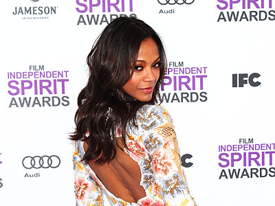 10 Style Stars of the 2012 Indie Spirit Awards | Zoe Saldana