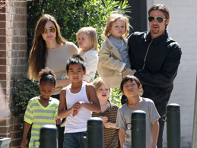 THEIR FAMILY photo | Angelina Jolie, Brad Pitt